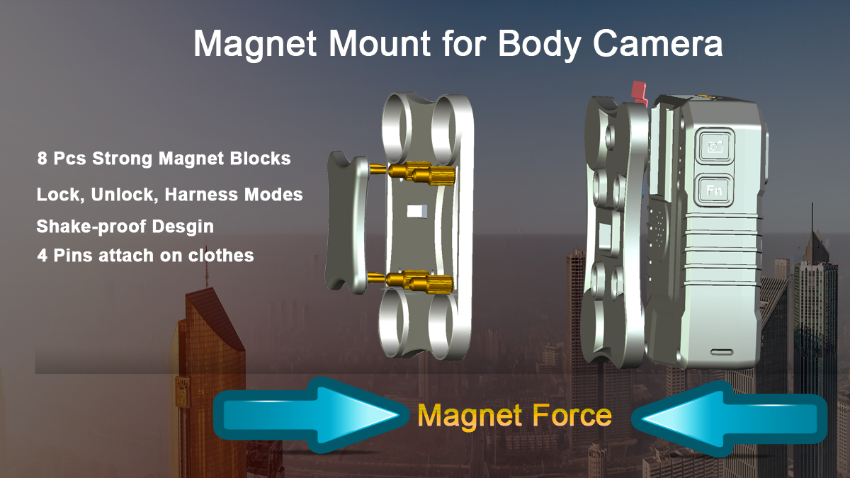 magnetic clip for body worn camera